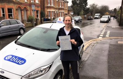Windsor Driving Test pass for Cat Trelawny