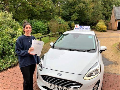 Windsor Driving Test pass for Hetta Laughlan