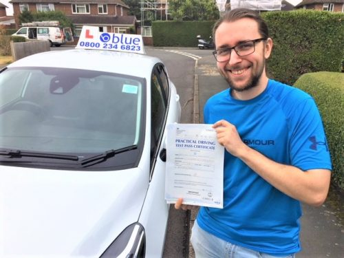 Windsor Driving Test pass for James Kwasowski