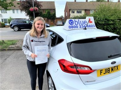 Windsor Driving Test pass for Lauren Johnson-Margetson