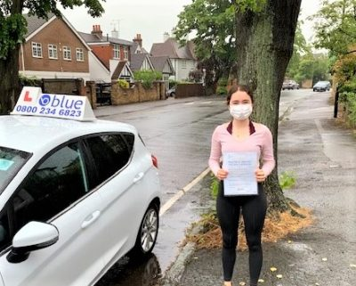 Windsor Driving Test pass for Siena Pledge