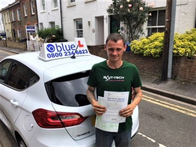 Windsor Driving Test pass for Tim Marshall