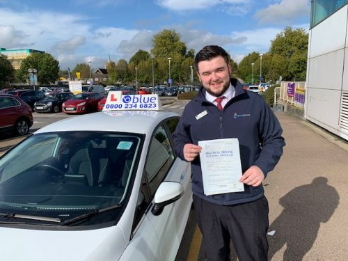 Windsor Driving test pass for Jamie Hayes-Brown