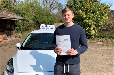Winkfield Driving Test pass for Tommy Cardwell
