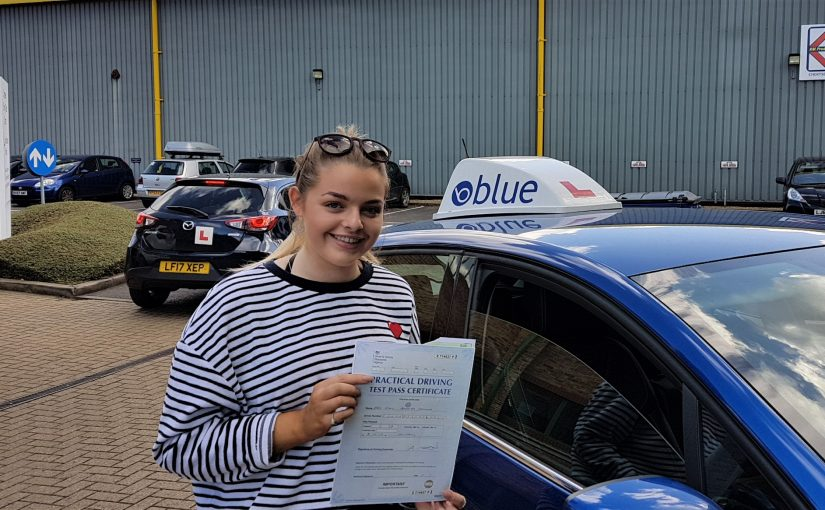 Katie Edwards of Winkfield Row, Berkshire Passed her driving test FIRST TIME