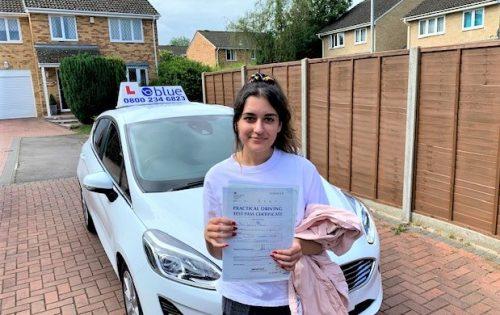 Winkfield Row Driving Test Pass for Jasmine Ahsan