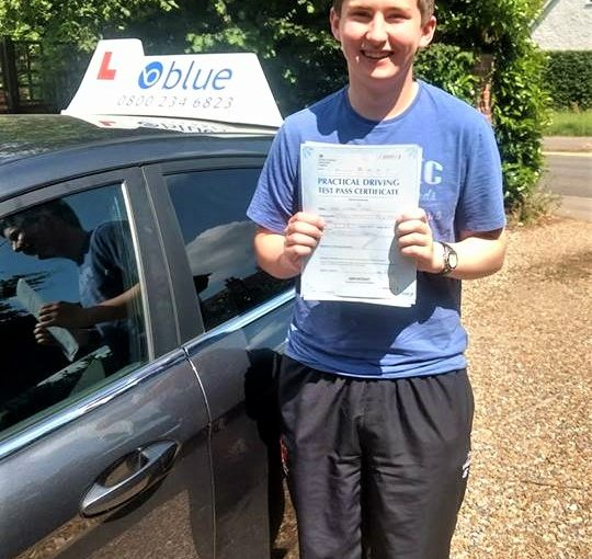 Hugh Doyle of Winnersh who passed his test first time at Reading