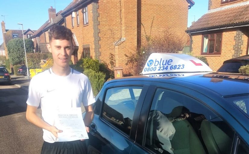 Louis Rodriguez from Winnersh passed his test