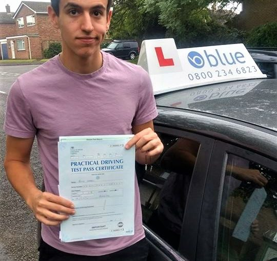 Roye Arbel of Wokingham who passed his test at Reading first time