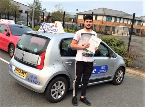 Driving Test Pass for Ryan Trigg from Wokingham who passed with just four faults today.