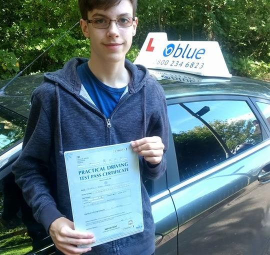 Congratulations to Andrew Tabb of Wokingham who passed his test at Reading