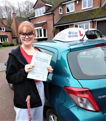 Wokingham Driving Test pass for Annabel Hales