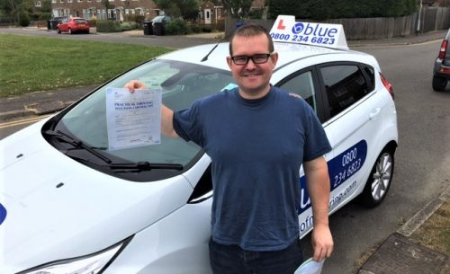 Ian Giddings from Windsor passed his driving test First Time in Slough Berkshire