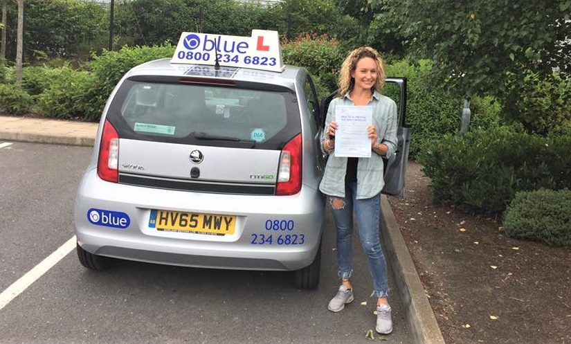 Lauren Beare from Yateley who passed with just three faults today in Farnborough