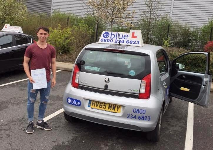 Marcus Gibbs from Yateley on passing his driving test first time