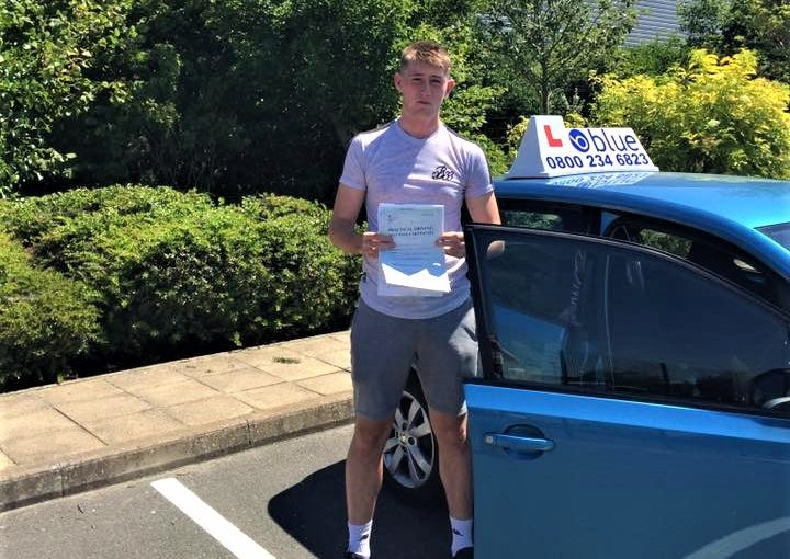 Yateley Driving Test Pass for Lewis Wells