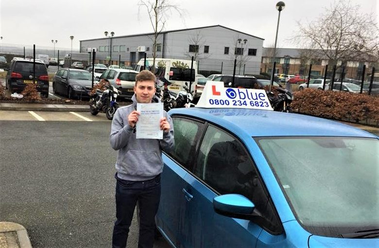 First time Driving Test pass for Tom Kneller from Yateley Hampshire