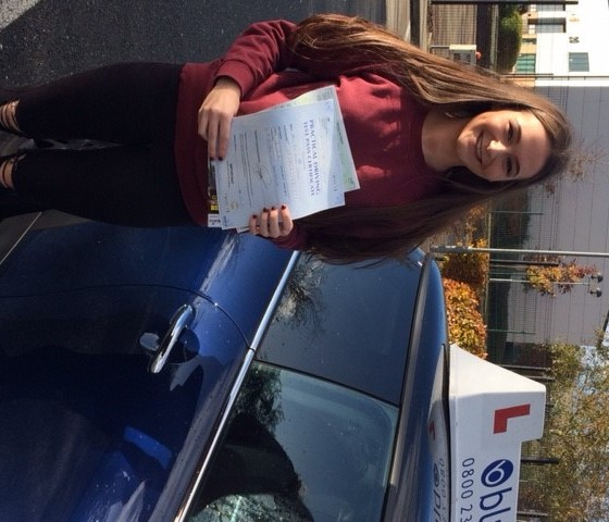 driving test pass for Zoe Fisher