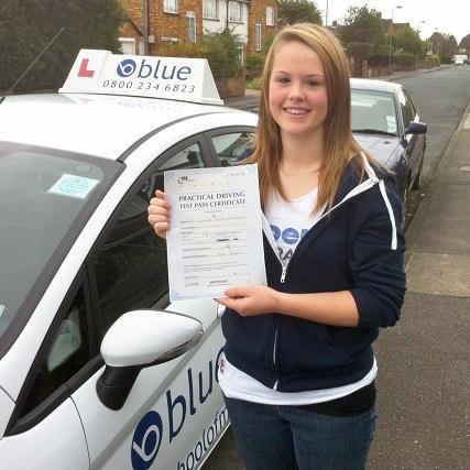 Eleanor Marshall, of Windsor, Berkshire - Blue Driving School